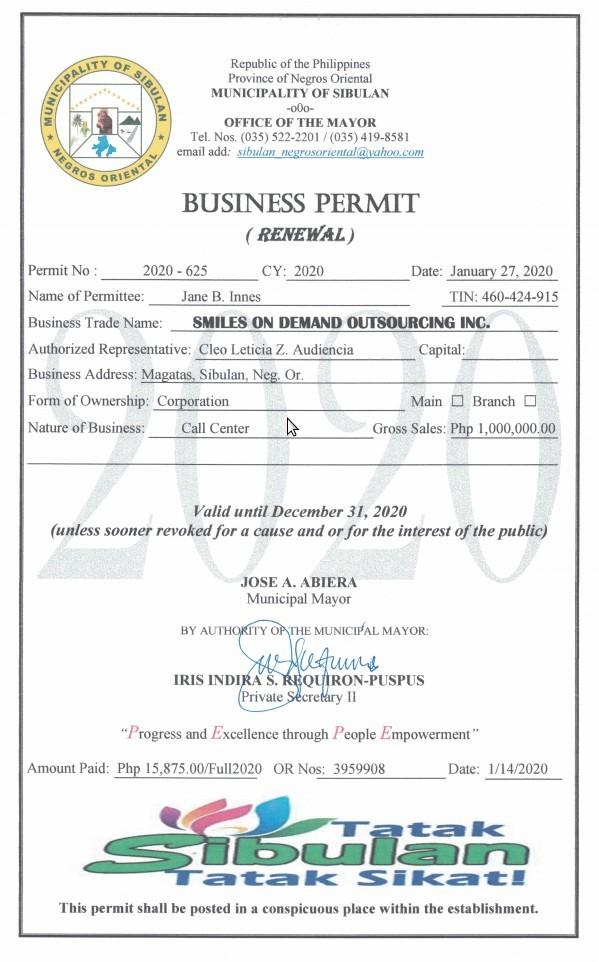 Mayor's Permit Site 2