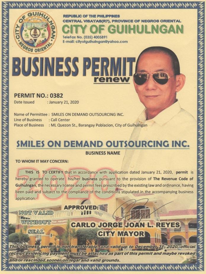 Mayor's Permit Site 1